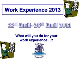 Work Experience  2013