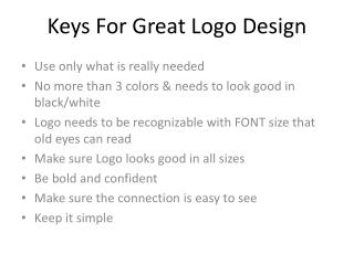 Keys For Great Logo Design