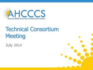 Technical Consortium  Meeting