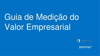 Guia  de  Medi��o  do  Valor  Empresarial