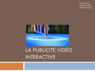 La publicité vidéo interactive