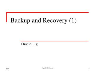 Backup and Recovery (1)