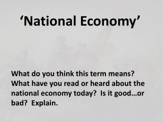 'National Economy'