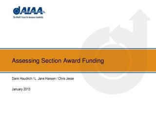 Assessing Section Award Funding