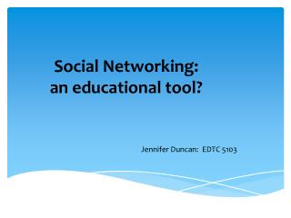 Social Networking:  an educational tool?