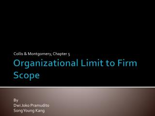 Organizational Limit to Firm Scope