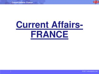 Current Affairs- FRANCE