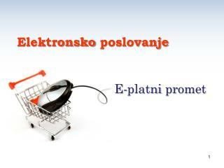 E- platni promet