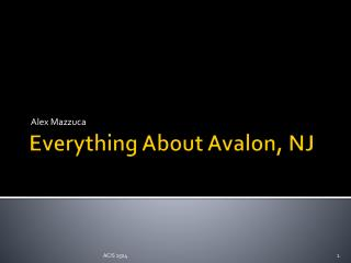 Everything About Avalon, NJ