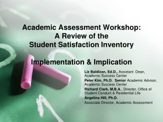 Liz  Baldizan ,  Ed.D .,  Assistant  Dean, Academic Success Center