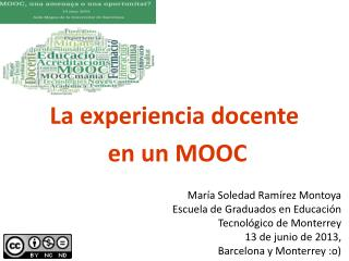 La experiencia docente  en un MOOC