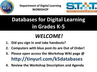 Databases for Digital Learning  in Grades K-5
