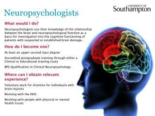 Neuropsychologists
