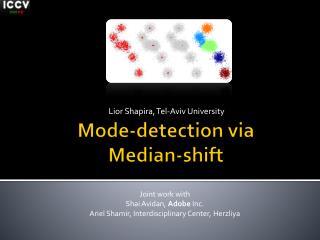 Mode-detection via Median-shift