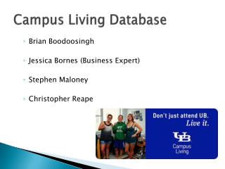 Campus Living Database