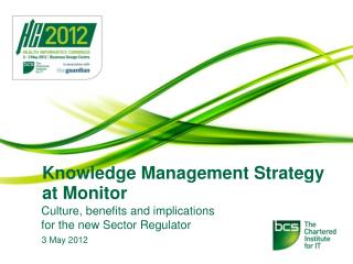 Knowledge Management Strategy at Monitor