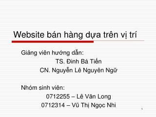 Website  bán hàng dựa trên vị trí