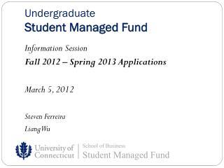 Undergraduate Student Managed Fund