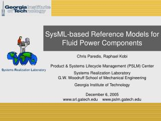 SysML-based Reference Models for  Fluid Power Components
