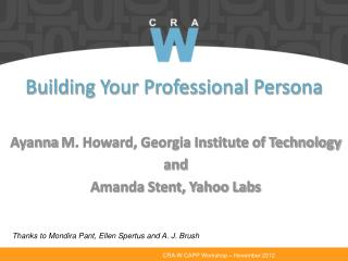 Building Your Professional Persona