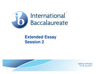 Extended Essay Session 2