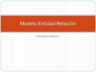 Modelo Entidad-Relaci�n