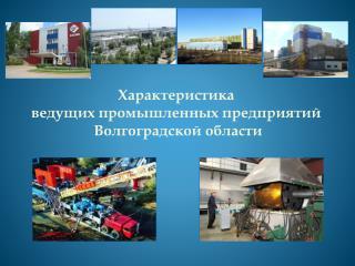 Характеристика  ведущих промышленных предприятий  Волгоградской области