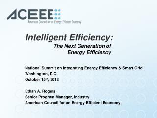 Intelligent Efficiency :