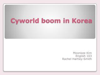 Cyworld  boom in Korea