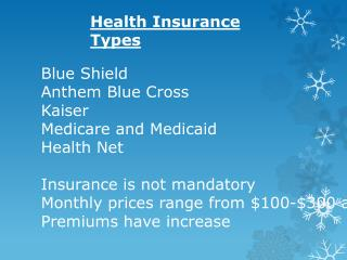Health Insurance Types