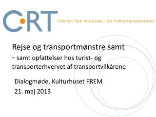 Dialogmøde, Kulturhuset FREM 21. maj 2013