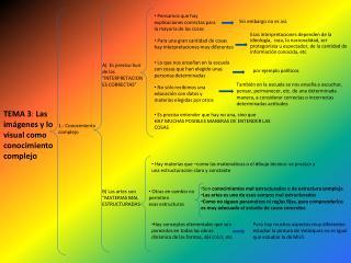 TEMA 3 :  Las imágenes y lo visual como conocimiento complejo