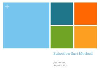 Selection Sort Method