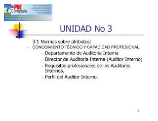 UNIDAD No  3