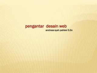 p engantar desain  web