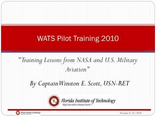 WATS Pilot Training 2010