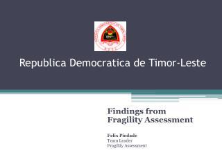 Republica Democratica  de Timor-Leste