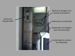 Sistema de dosagem com bombas pneumáticas