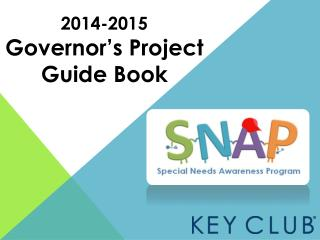 2014-2015 Governor's Project Guide Book