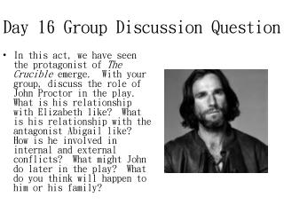 Day 16 Group Discussion Question