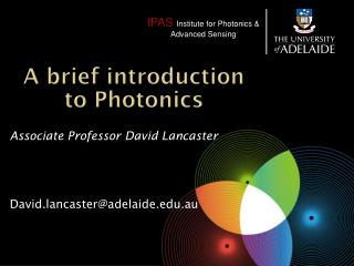 A brief introduction to Photonics