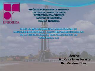 REPÚBLICA BOLIVARIANA DE VENEZUELA UNIVERSIDAD ALONSO DE OJEDA VICERRECTORADO ACADÉMICO