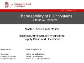 Changeability  of ERP Systems  Literature Research