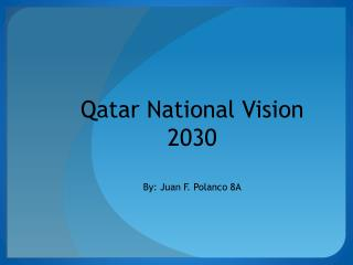 Qatar National Vision 2030