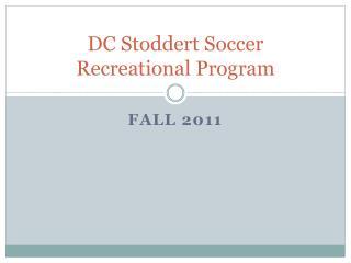 DC Stoddert Soccer Recreational Program