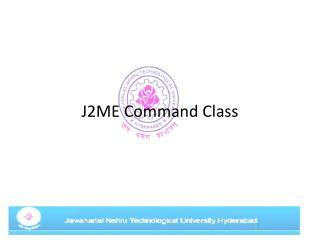 J2ME Command Class