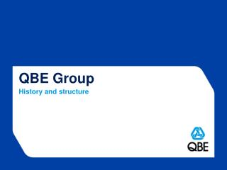 QBE Group History and structure
