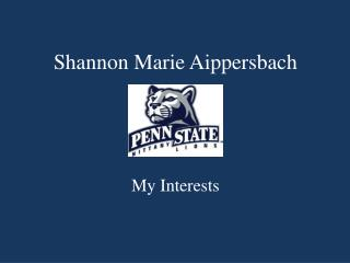 Shannon Marie  Aippersbach
