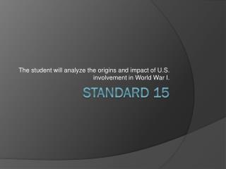 Standard 15