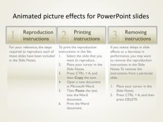 To print the reproduction instructions in this file: Select the slide that you want to reproduce.